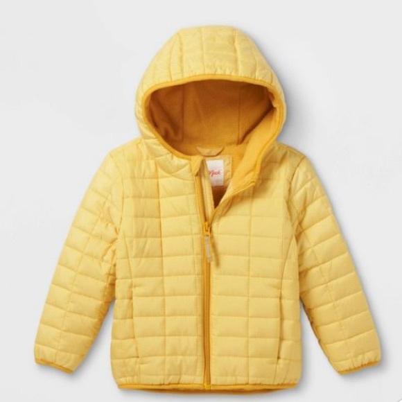 Cat & Jack yellow puffer jacket